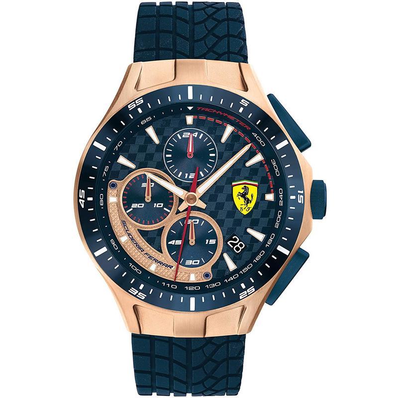 American purchasing genuine Ferrari race day mens watch fashion blue silicone strap watch