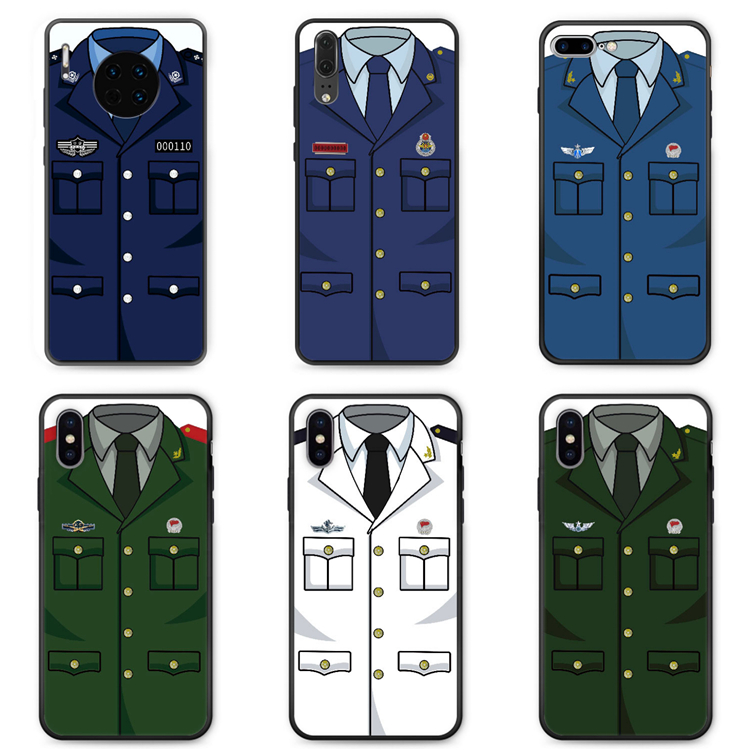 Suitable for red rice 8A mobile phone case note8pro / 7 / 10x / 9 anti falling silica gel traffic police fire fighter police