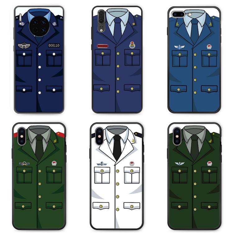 适用红米8A手机壳note8pro/7/10x/9防摔硅胶交通警察消防军人警方