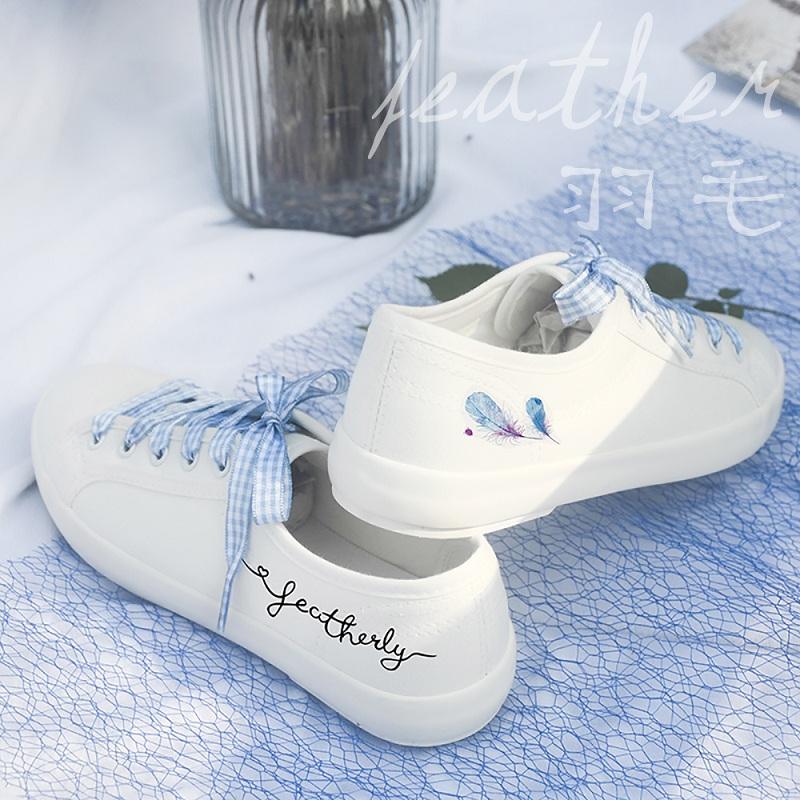 小白鞋夏季原宿风休闲布鞋板鞋子