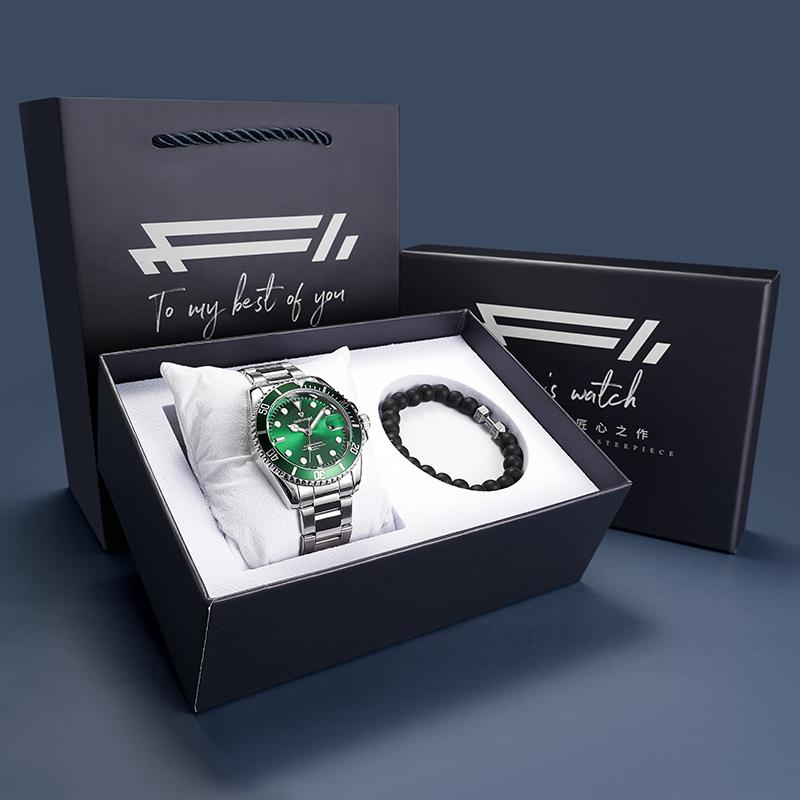 马克华菲正品牌黑绿水怪鬼石英手表评价好不好