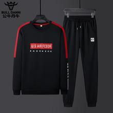 子一套 运动休闲套装 韩版 衣服裤 2019秋季 公牛丹尼休闲男装 新款