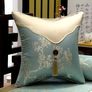 红木沙发抱枕靠垫客厅靠枕新中式中国风古典刺绣卧室腰枕靠垫套罩