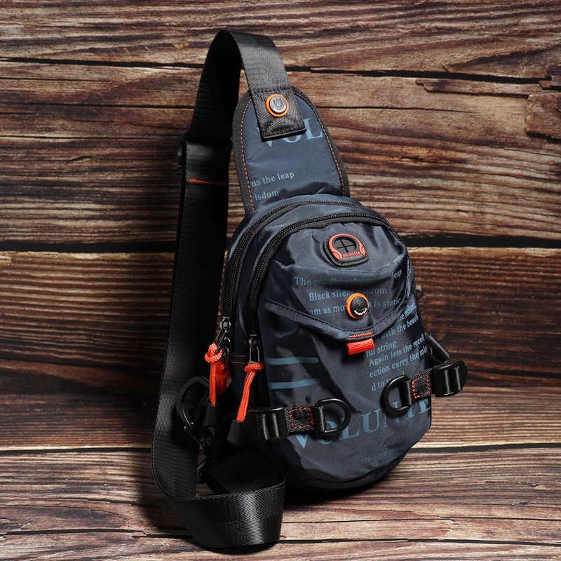斯帕曼多功能小背包潮牌胸包男户外旅行男包单肩斜挎包男士帆布包