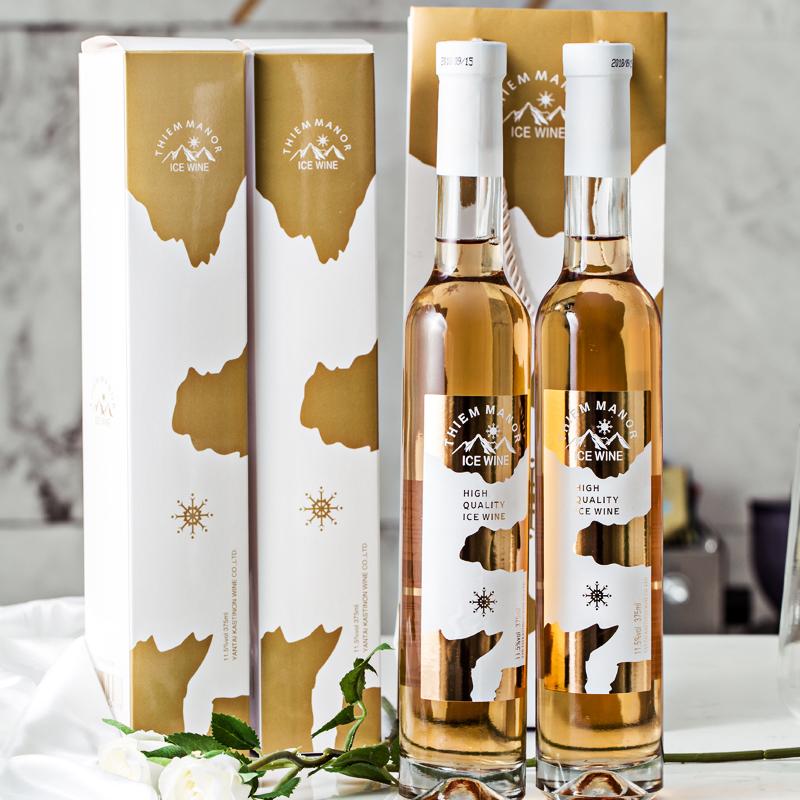 蒂姆庄园冰酒甜酒甜白葡萄酒2支礼盒装女生果酒红酒非香槟起泡酒