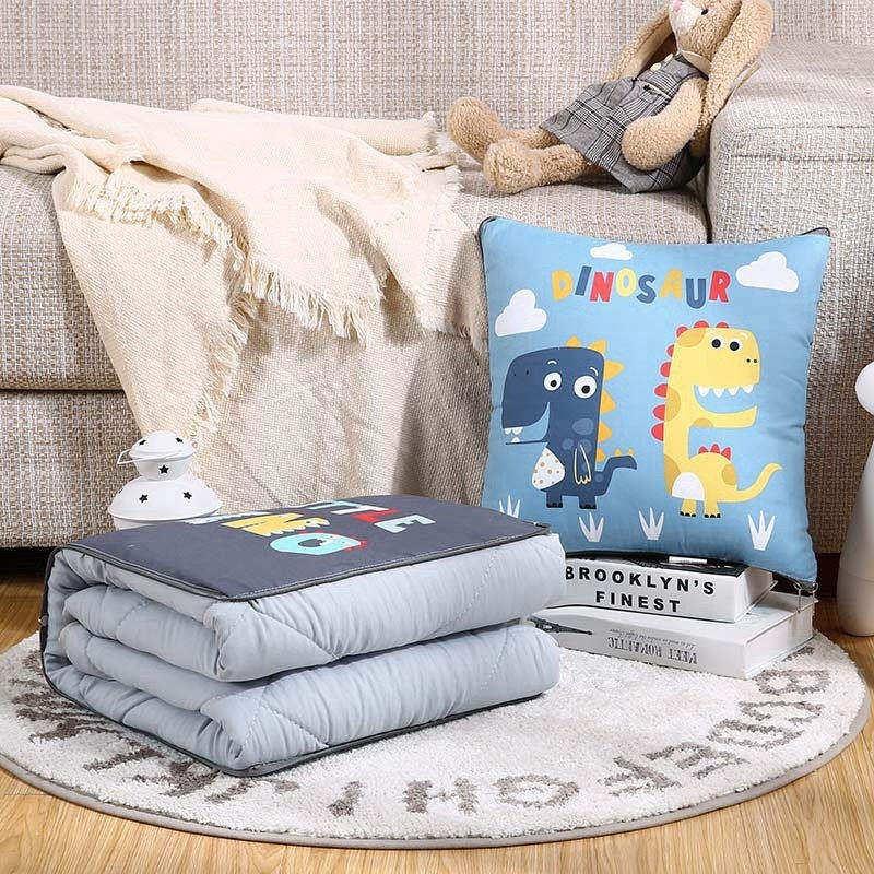 可抱枕被子双面靠垫全棉车上二合一一对拍2可爱多功能冬卡通午睡