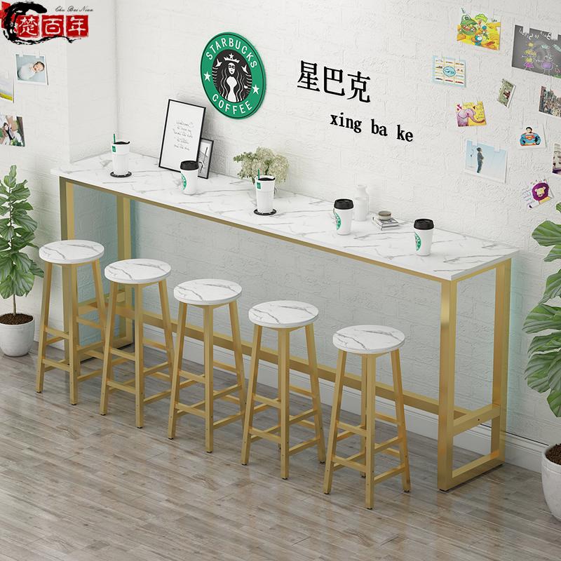 吧台桌家用阳台靠窗桌酒吧高脚桌奶茶店桌椅组合长条桌靠墙窄桌子