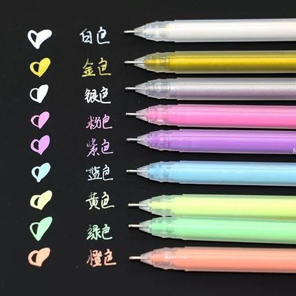 荧光笔记号笔套装绘画彩色中性笔芯