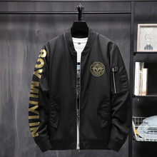 Boy coat men's fashion brand autumn 2019 new cotton thickened bomber trend top pilot jacket