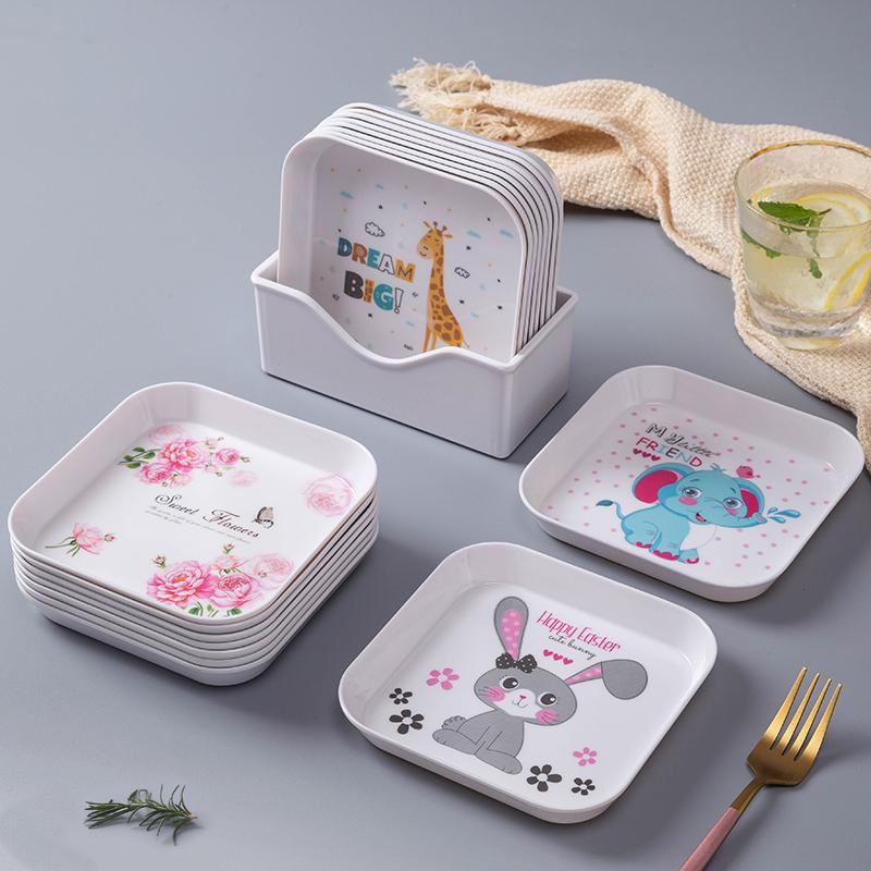 吐骨头家用餐桌鱼刺垃圾塑料小碟子