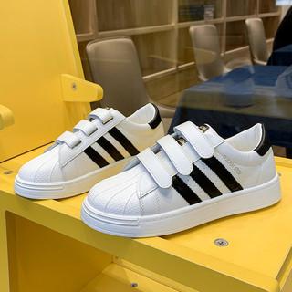 魔术贴小白鞋女鞋2021年新款百搭贝壳运动休闲板鞋ins街拍潮鞋子