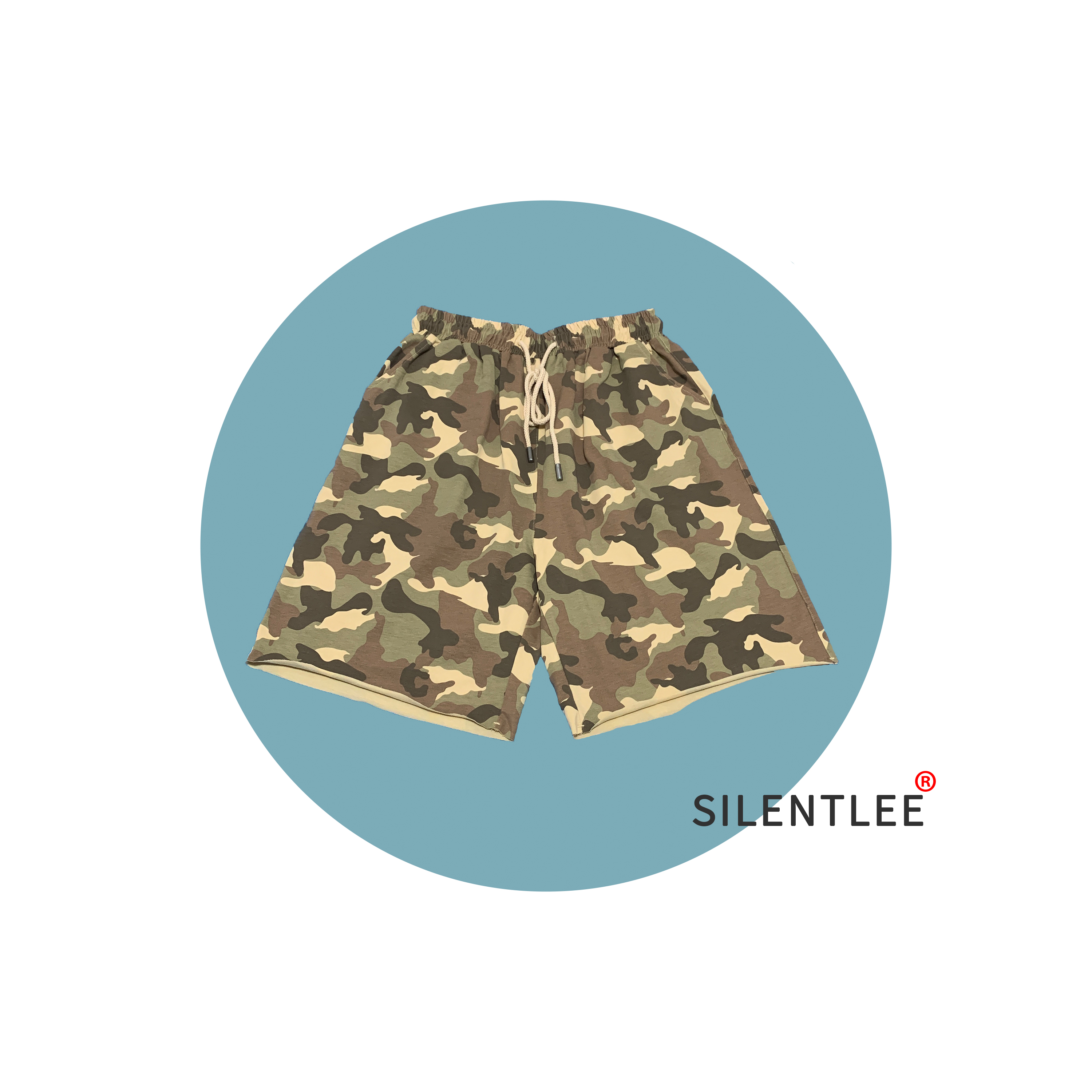 Silentlee summer new camouflage loose casual shorts comfortable and breathable, take your home with you