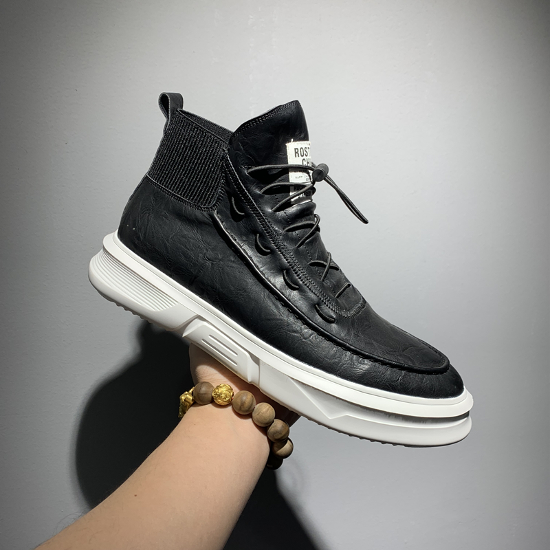 Mens boots autumn and winter fashion shoes 2019 New Retro tooling boots youth high top jeans short boots British high top shoes mens shoes