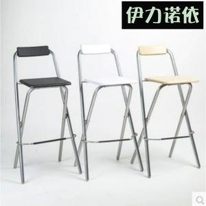 高脚凳家用可折叠吧椅休闲吧台椅靠背高椅酒吧椅钓鱼椅吧台椅