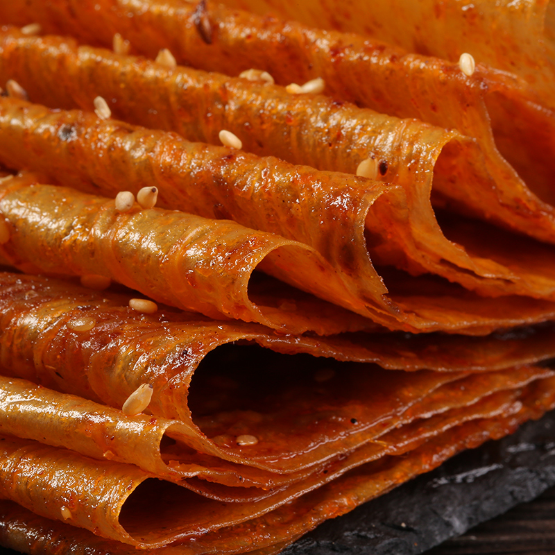 儿时怀旧麻辣网红零食小吃湖南特产80手撕老式大辣片辣条手工豆皮