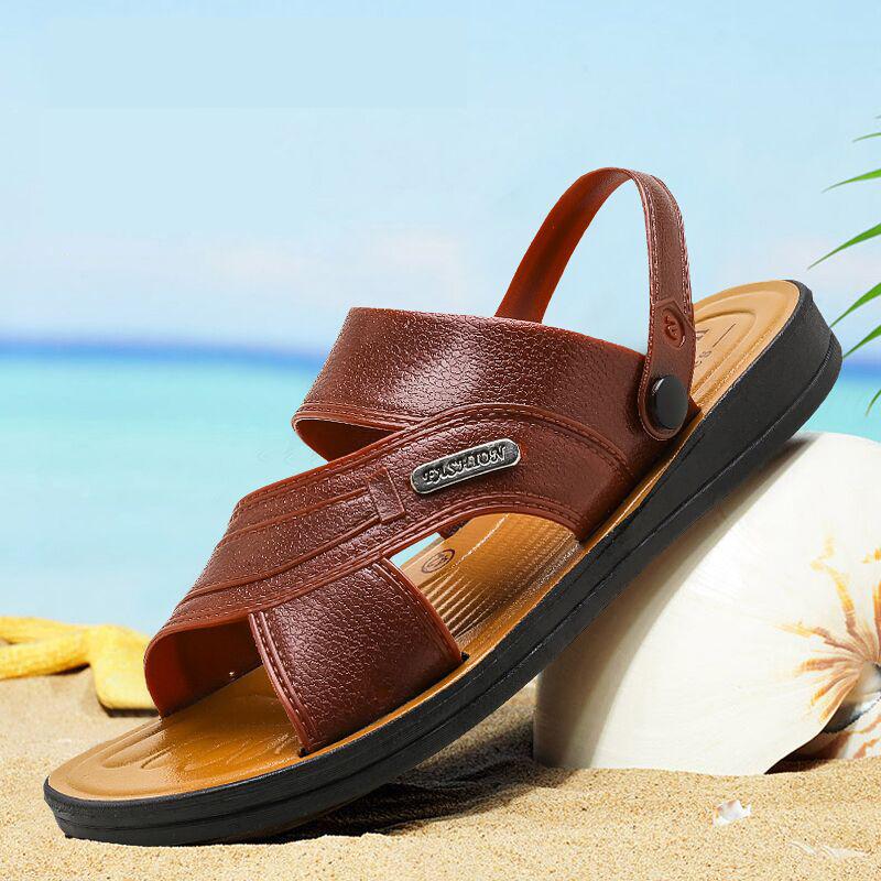 振烨夏季男士凉鞋透气休闲凉拖沙滩鞋防滑两用大码拖鞋爸爸拖鞋男