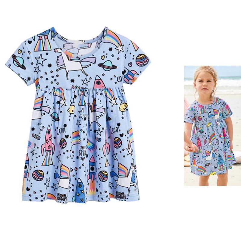 满77.44元可用1元优惠券女童连衣裙短袖女孩衣服夏季儿童裙子小中童裙超洋气宝宝夏装童装