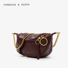 CHROUSE& KLOTH Small CK Waist Wrinkle Limited Westernized Women's Bag 2019 New Hand Bill of Lading Shoulder Slant Bag