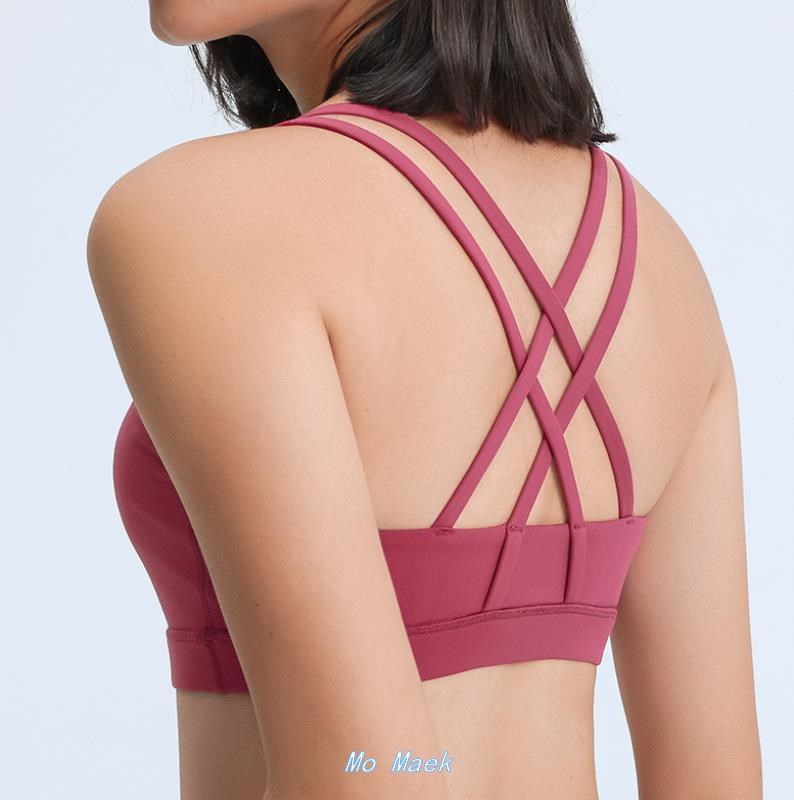 Naked feeling together new cross sports bra sexy beauty back