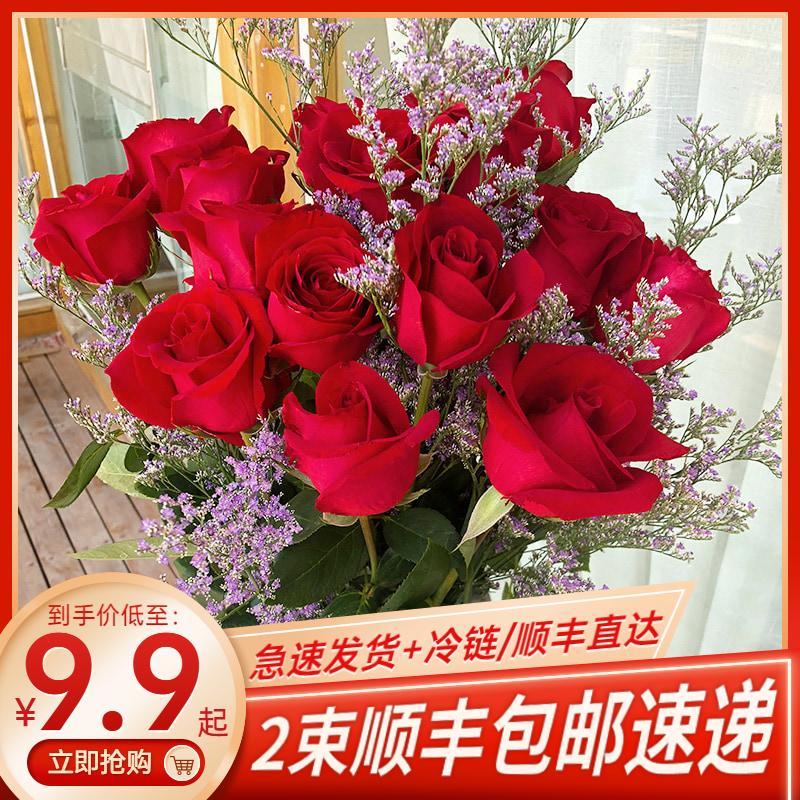 百合花云南基地直发鲜切花玫瑰花束
