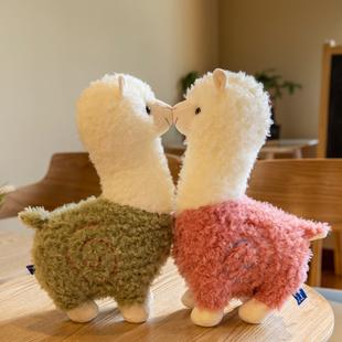 可爱小羊驼公仔仿真大号草泥马床上睡觉抱枕日本布娃娃儿童节礼物