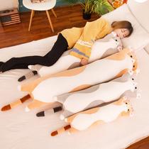 猫咪毛绒玩具长条睡觉夹腿抱枕公仔床上超软大布娃娃熊玩偶男女生