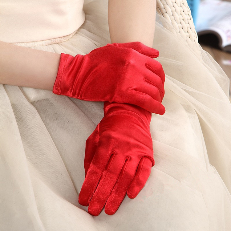 Wedding Red Gloves Wedding Lace White Gloves Long and short transparent yarn cloth bridal accessories wedding festival
