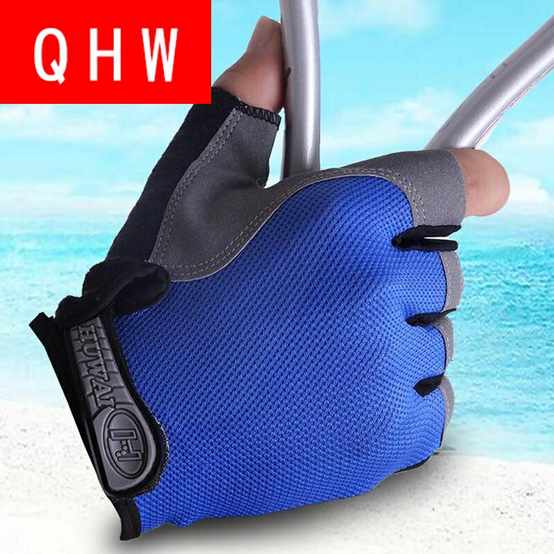 Fitness Gloves men and women dumbbell equipment training antiskid breathable thin protective sports cycling Half Finger sun proof gloves