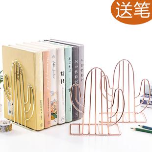 2片装铁书架简易桌上夹书器书架