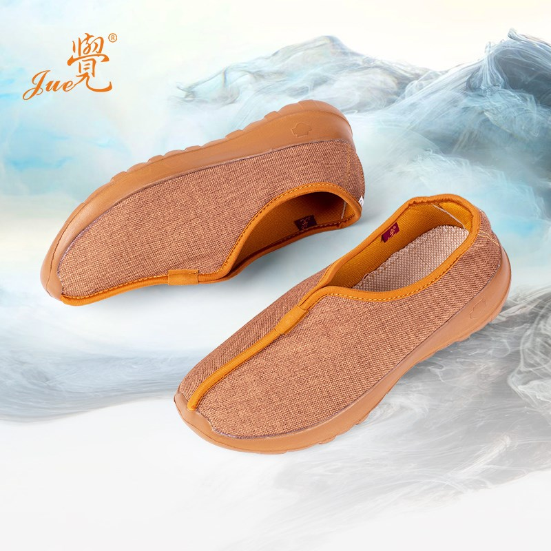 Breathable monk shoes spring and autumn shoes single shoes cotton and hemp monks summer Buddhism soft soled cloth shoes monks