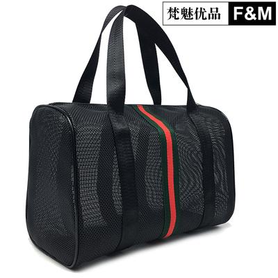 Mesh wash bag men and women bath bag bath bag breathable permeable bath pocket swimming fitness storage bag beach bag