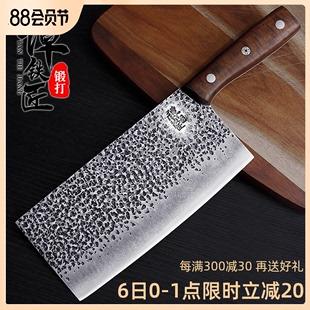 谭铁匠手工锻打菜刀家用厨师专用刀具厨房切片刀肉斩切刀超快锋利图片