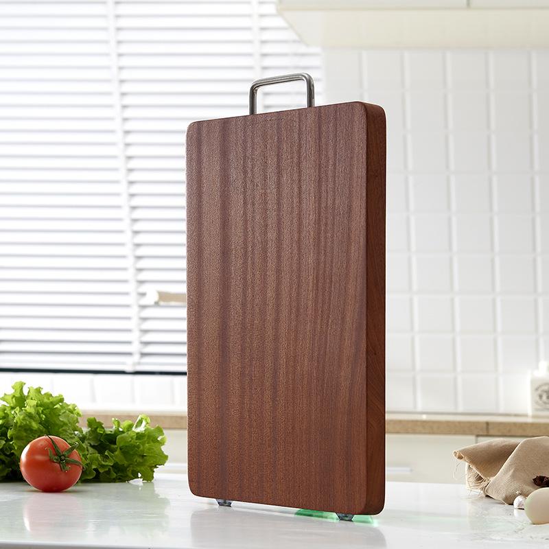 新款乌檀木耐用家居砧板 便捷坚固木制菜板 厨房切菜砧板厂家直销