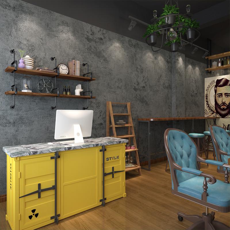 水泥墙壁纸自贴服装店复古北欧墙纸怎么样