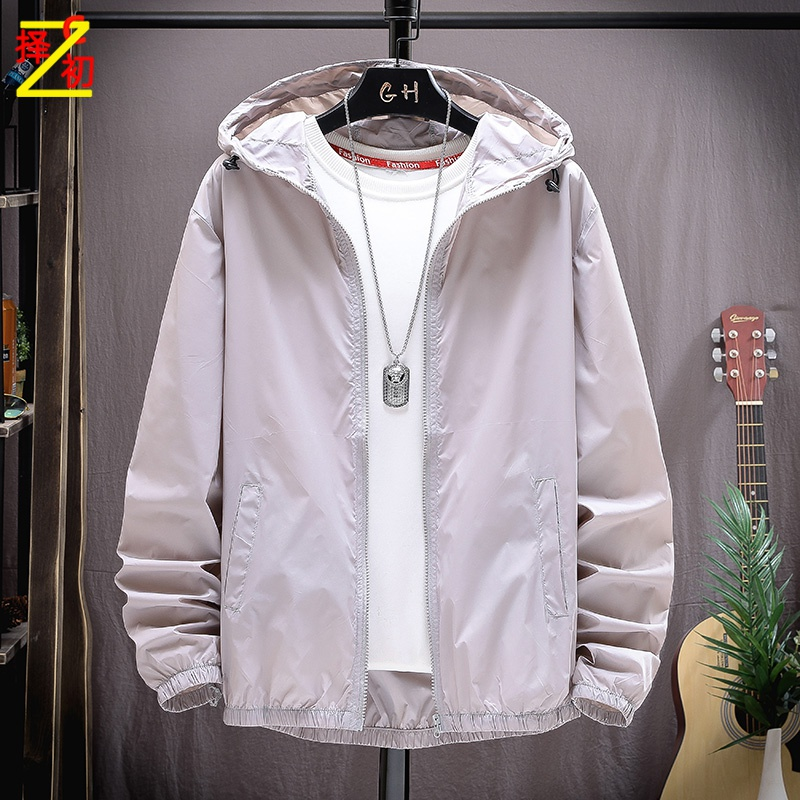 Choose the first China sunscreen summer new mens thin and breathable coat loose large sports jacket trend ZC
