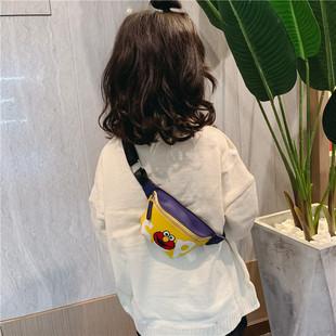 兒童胸包潮可愛卡通斜肩包男孩子斜挎包時尚百搭女童單肩包小腰包