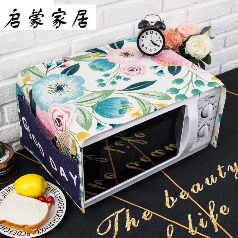 American Pastoral ins microwave oven cover cloth fresh cover oven oil proof rectangular cover towel C3