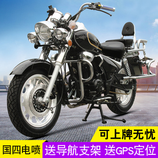 复古风暴太子摩托车跑车 国四电喷200CC宗申发动机成人两轮摩托车