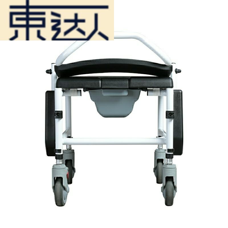 老人带坐便器洗澡多功能小型轮椅买三送一