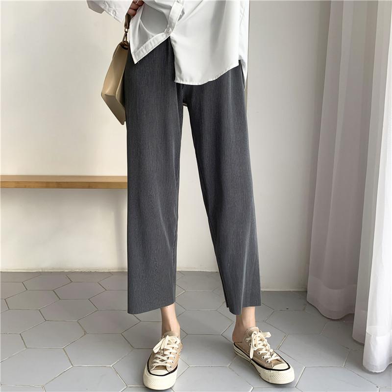 冰丝夏薄款高腰垂感2021新款阔腿裤评价如何