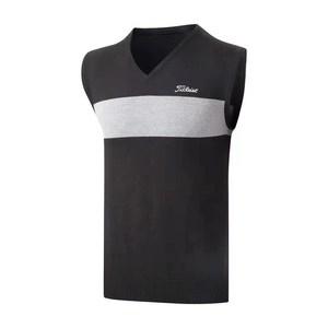 秋冬高尔夫服装男士毛衣背心修身打底外穿无袖户外运动休闲潮上衣