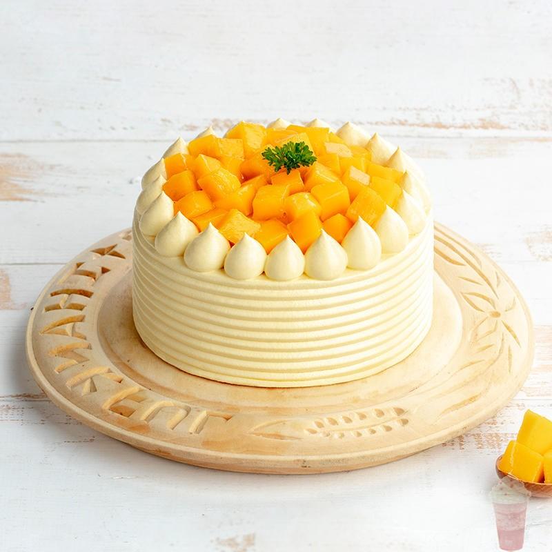 幸福西饼金玉下午茶蛋糕甜心芒果鲜奶油夹心水果铜仁全国同城配送