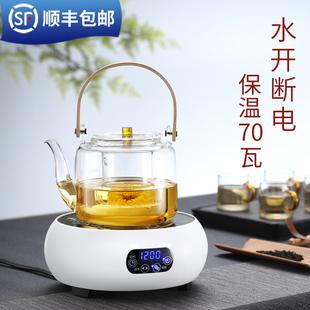 福也电陶炉煮茶器小型迷你小电磁炉全自动家用烧水蒸汽玻璃煮茶壶
