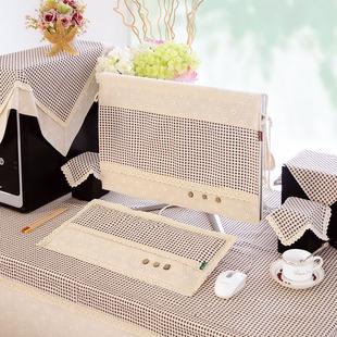 电脑防尘罩台式一体机液晶显示器盖布罩子布艺联想苹果棉麻保护罩