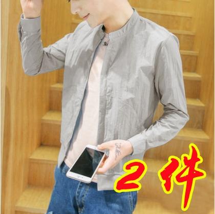 中國代購|中國批發-ibuy99|夹克男|防晒衣男夏季2021新款修身夹克男装夏装薄款衣服韩版潮流男士外套