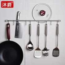 厨房免打孔可旋转挂钩多用无痕墙壁置物架免钉粘钩挂钩挂勺子挂架