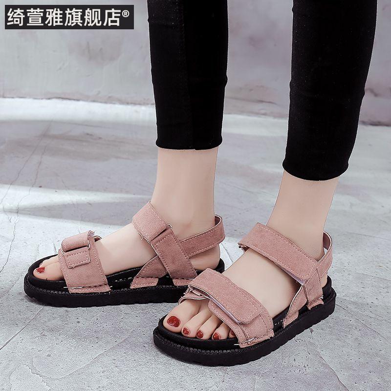 适合脚宽肥的女鞋凉鞋胖脚凉鞋鞋子女2019潮鞋单鞋夏季凉鞋百搭