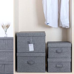 收纳箱布艺整理箱衣服衣物储物箱宿舍学生家用有盖可折叠箱子玩具