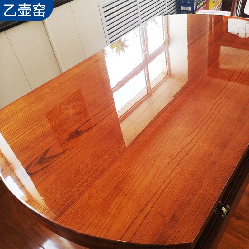 高档家具贴膜透明茶几实木餐桌子面耐高温保护大理石厨房贴纸自粘
