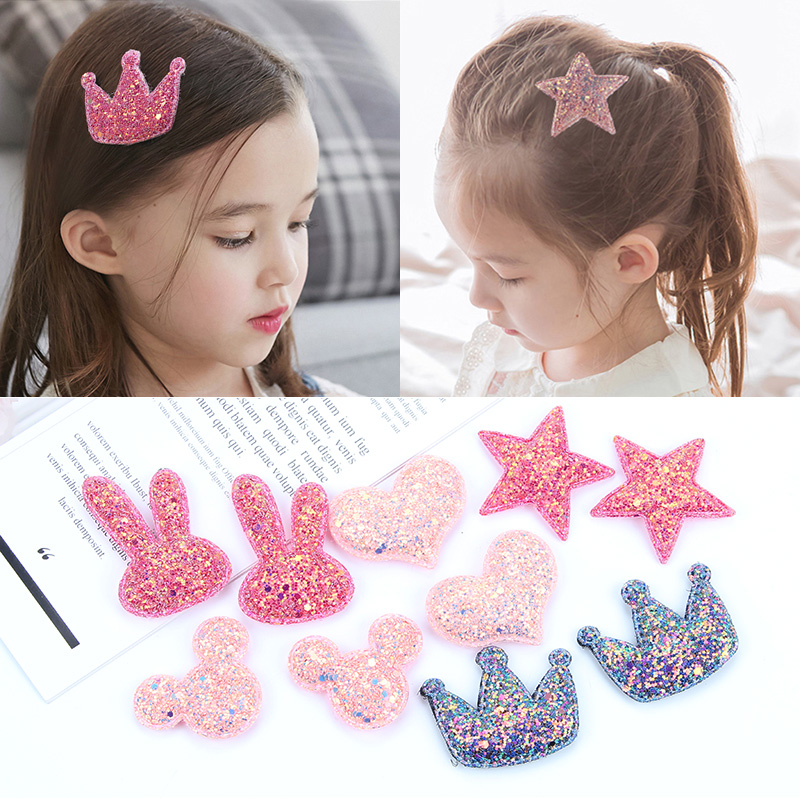 Childrens banghaitie magic paste headdress lovely hair ornament baby broken hair artifact little girls traceless sticky hair post
